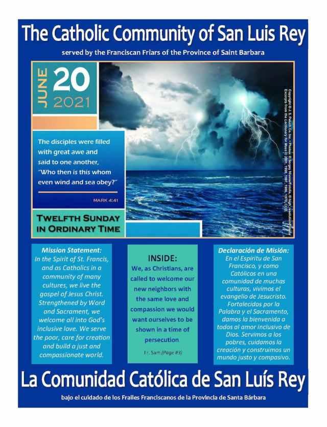 Bulletin for 6-20-2021