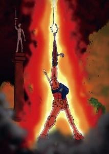 Gundam ja Vapaudenpatsas. Copyright Maro.
