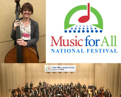 San Marcos Bands student performs with the Honor Orchestra of America