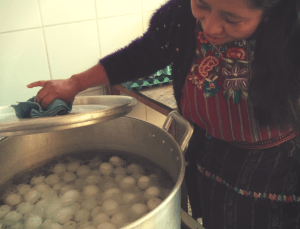 Hard boiling the eggs