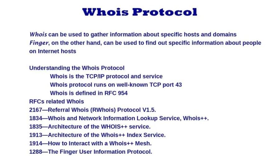 whois protocol