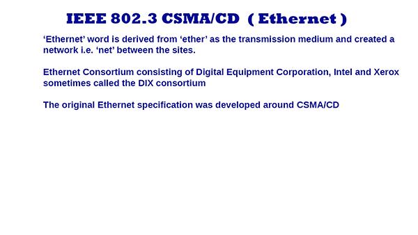 IEEE 802.3 Ethernet