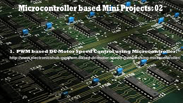 Microcontroller based Mini Projects Part – 02