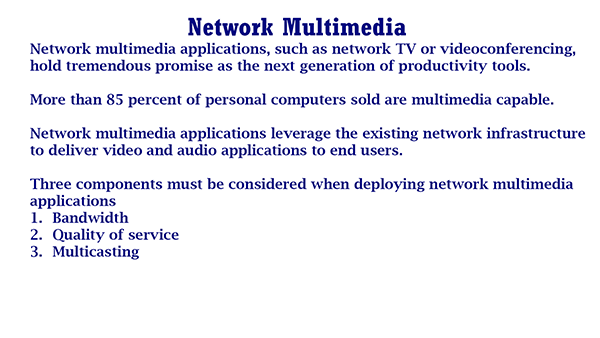 Network Multimedia