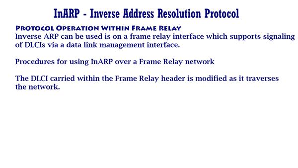 InARP Inverse Address Resolution Protocol