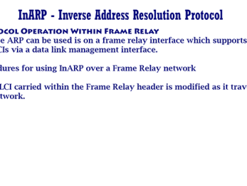 InARP – Inverse Address Resolution Protocol