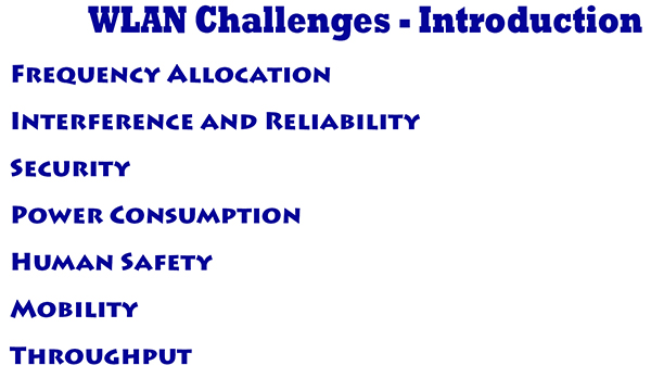 WLAN Challenges