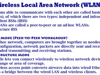 Wireless Local Area Network (WLAN) – Introduction