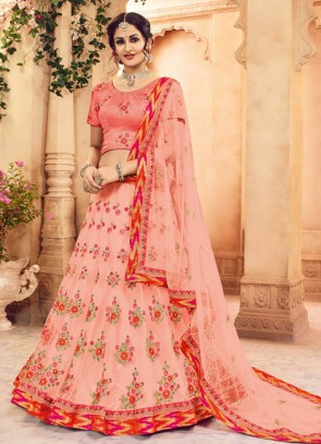 Beautiful Look Pink Shade Designer Lehenga Choli