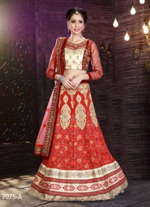 Embroidery Work Red Color Lehenga Bridal Lehenga Choli