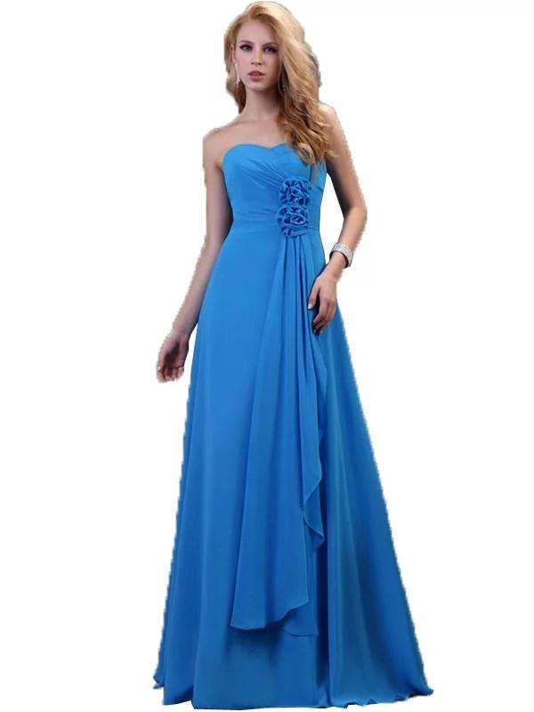 LaceShe Women's Flattering Strapless Bridesmaid Dress
