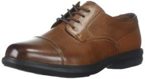 Nunn Bush Men's Maretto Cap Toe Oxford KORE Slip-Resistant Dress Casual Lace-up