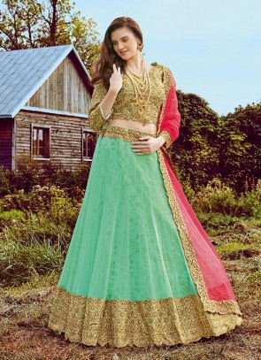 Sea Green Lehenga Choli