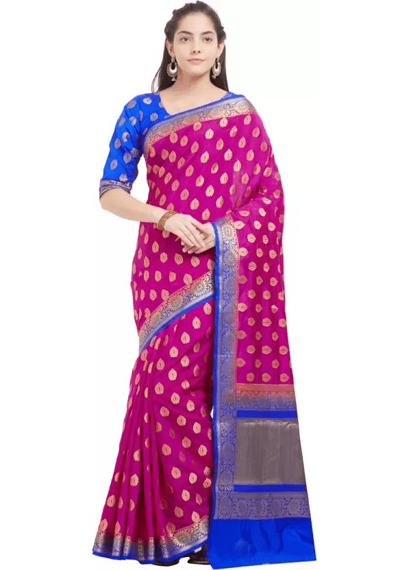 Viva N Diva Embroidered Paithani Banarasi Silk Saree