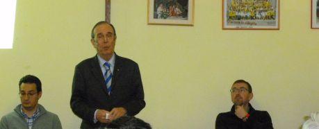 L'assessore all'urbanistica, Matteo Ravera, il sindaco Mario Giuliano e il vicesindaco Maurizio Paoletti