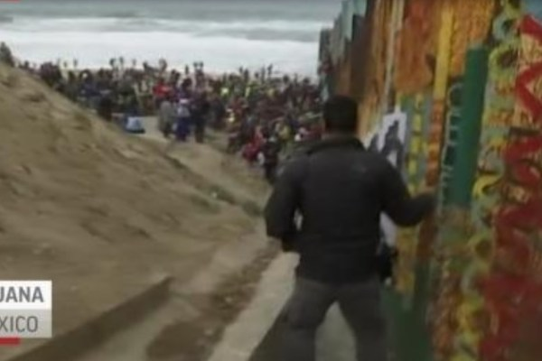 """The quest for asylum for the caravan of Central Americans was put on pause after Border Patrol authorities declared that they were unable to process them due to space constraints. """"CBP facilities at capacity at San Ysidro."""