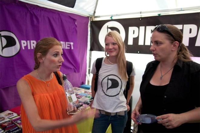 Jag tillsammans med KD's Carolina och så våran partiledare Anna Troberg