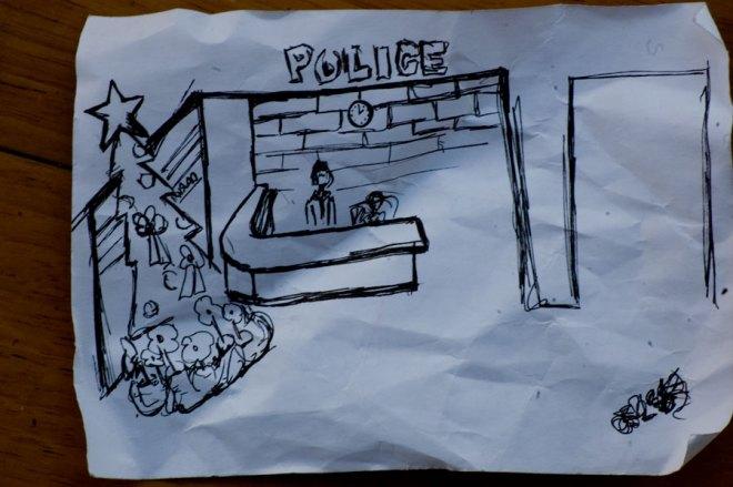 Poliskontoret i våran byggnads källare