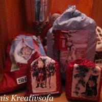 Nähen: Der Geschenkesack vom Weihnachtsmann