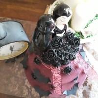 Vintage: Hochzeitstortedeko  mal anders oder aber die Hochzeitstorte des Grauens