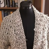 Winterkollektion # 3 - Strickjacke aus Retrowolle