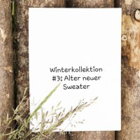 Winterkollektion #3 - Neuer alter Sweater