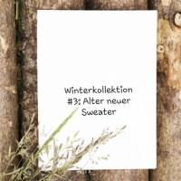 Winterkollektion #3 - Neuer alter Sweater