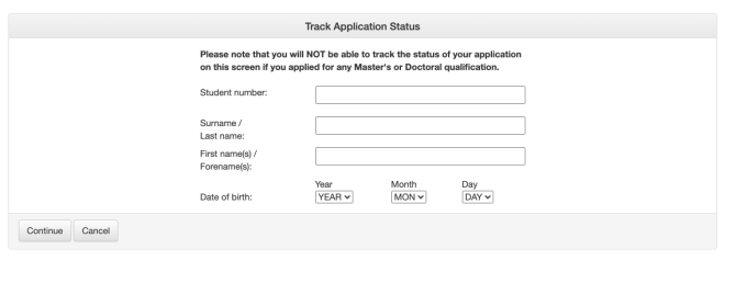 UNISA Application Status