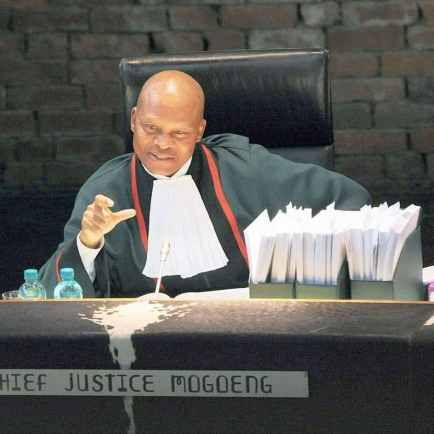 Mogoeng Mogoeng (born 14 January 1961) is the Chief Justice of the Republic of South Africa. He was appointed by Jacob Zuma on 8 September 2011.