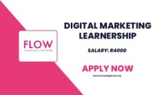 Flow SA Digital Marketing Learnership 2021 Is Open