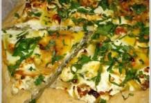 Тарта с лук, сирене и яйца