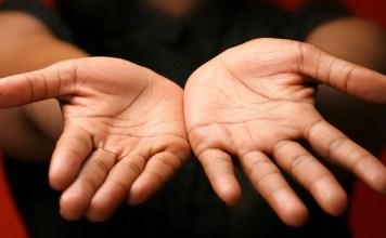 точките на ръцете