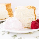 Angel Food Cake with Raspberry Whipped Cream