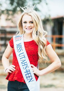 """Addelyn """"Addie"""" Brotherson, 14, of Wales has been crowned the youngest winner of the Miss Utah's Outstanding Teen Pageant since 2006. In August, Brotherson won was named Sanpete County's Outstanding Teen. She will compete in the Miss America's Outstanding Teen contest in Orlando, Fla. in July, 2014."""