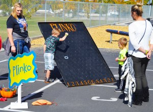 At the Ephraim Elementary Fall Festival, kids got to play the game of Plinko, a classic, and perhaps one of the most popular games showcased on the CBS game show The Price is Right.