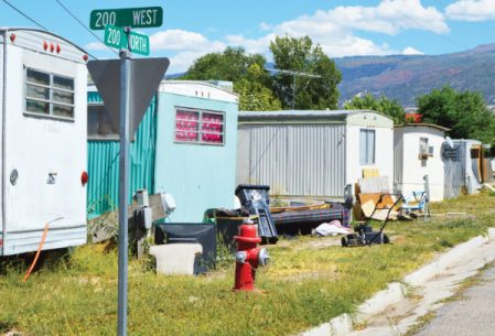 The DJ Trailer Court at 200 North and 200 West in Ephraim is being shut down by the Ephraim City Council. The occupants of about 20 trailers will be required to vacate. - Robert Stevens / Messenger photo
