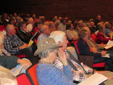 Crowd of about 300 people voiced concerns about proposed 60 percent tax hike overwhelming those on limited incomes. - Suzanne Dean / Messenger photo