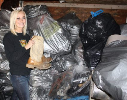 2016 Miss Sanpete County Kaytie Nielson has collected hundreds of shoes to help provide water wells to the people in Africa.