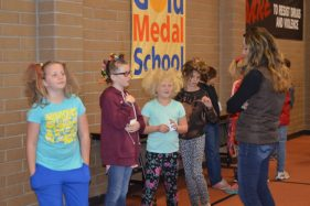Kids at Manti Elementary sported crazy hair during Red Ribbon Week, a fun and creative way to demonstrate school pride and staying safe. - Daniela Vazquez / Messenger photo