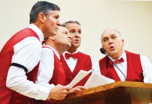 """This quartet of crooners sang """"Let me call you sweetheart"""" at the Sweetheart Forum on Friday, Feb. 10."""