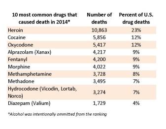 Brendon Quinn drug trends lecture - Drug death chart