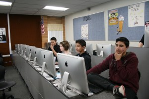 Career and Technical Education students at North Sanpete Middle School explore various computer programs.