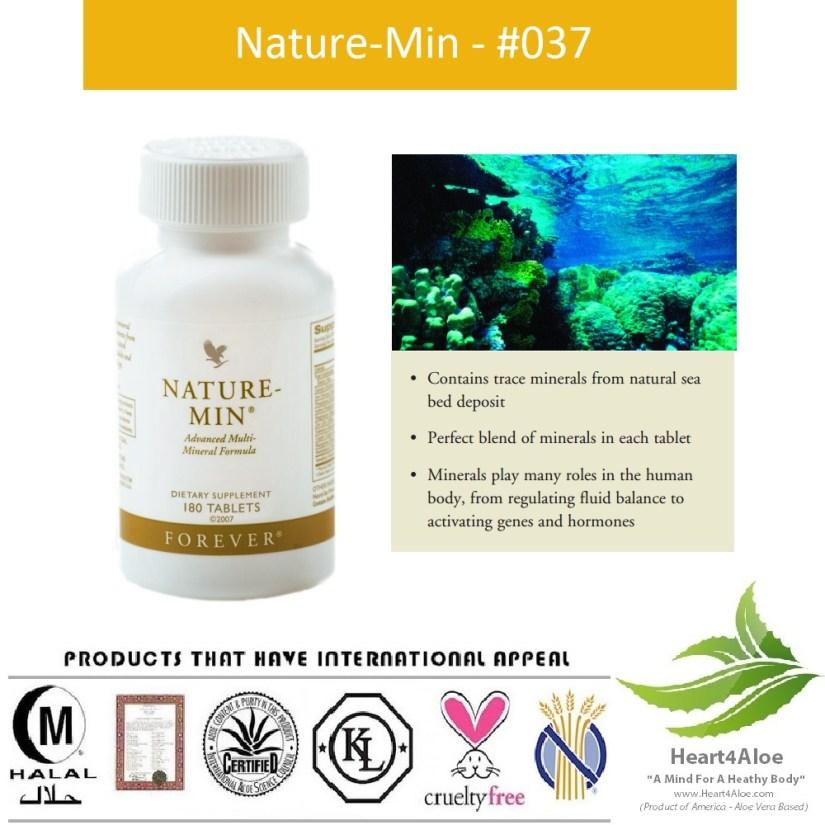 Forever Nature Min 037 Flp Khoáng Chất Giúp Trao Đổi Chất, Khung Xương