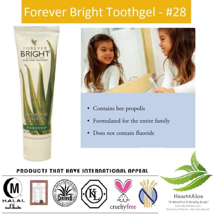 Kem đánh răng Lô Hội Forever Bright® Toothgel 028 Flp được chứng nhận là kem đánh răng tốt nhất