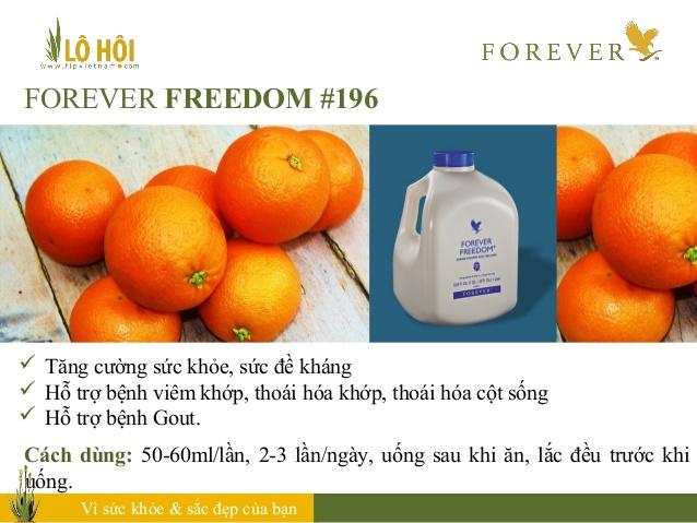 nước uống dinh dưỡng Forever Freedom 196 có tác dụng gì 3