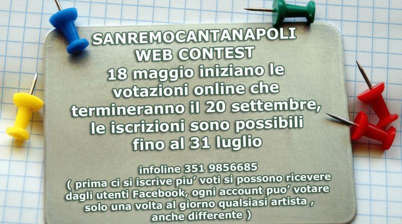 Da oggi via alle iscrizioni del concorso SanremoCantaNapoli-WebContest