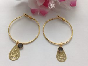 Earrings Golden Facet