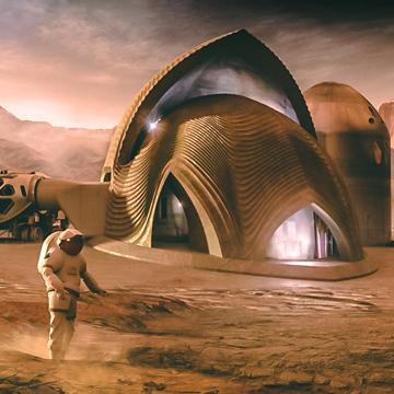 Habitat extra terrestre, projet financé par la NASA, voyage pour Mars sur sansible.fr, crédit image Search Apis Cor. #sansible #nasa #mars #planete #habitat #architecture #technologie #ecoconstruction