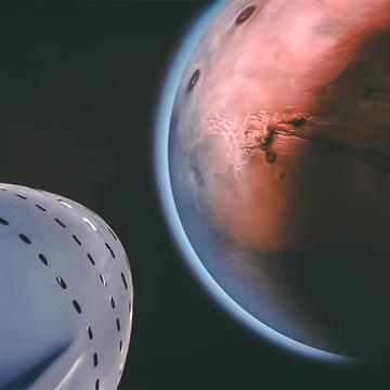 SpaceX projet de transport interplanétaire pour la planète Mars. Découvrez davantage de projets scientifiques pour aller sur Mars sur Sansible #sansible #planete #mars #spacex #explorationspatiale #voyage