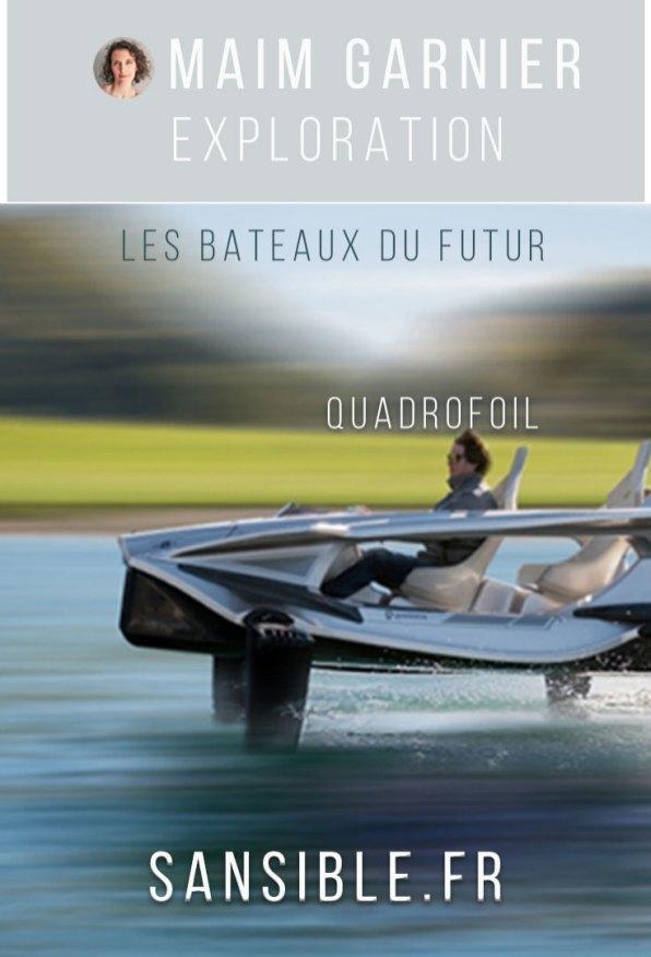 Quadrofoil, jet-ski électrique ecofriendly. Davantage de bateaux du futur ecofriendly à découvrir sur Sansible. #quadrofoil #hydroptere #sansible #bateau #futur #propre #ecoconception #ecodesign #ecofriendly #futurpropre